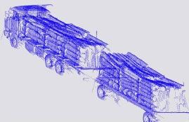 medición de volumen de carga a bordo de camiones